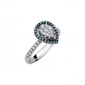 Δαχτυλίδι διαμαντένιο drop