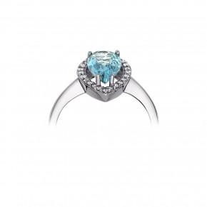 Δαχτυλίδι ροζέτα drop aquamarine