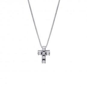 Σταυρός κλασσικός diamonds με αλυσίδα