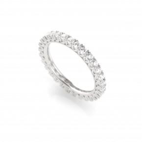 Δαχτυλίδι ολόβερο λευκόχρυσο Κ14