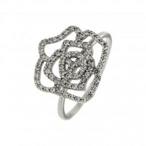 Δαχτυλίδι λευκό τριαντάφυλλο