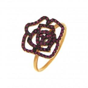 Δαχτυλίδι φουξ τριαντάφυλλο