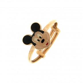 Δαχτυλίδι παιδικό χρυσό με τον Mickey Mouse