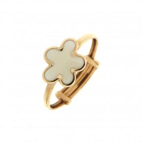 Δαχτυλίδι παιδικό χρυσό με λευκό σύννεφο