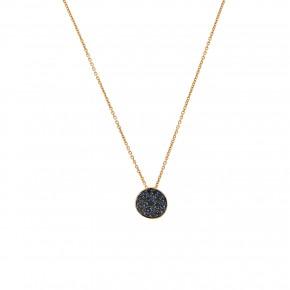 Κολιέ rosegold sapphires